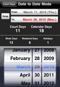 court days for iphone