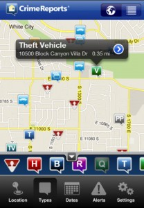 crime reports for iphone