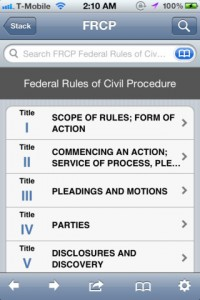 law stack for iphone
