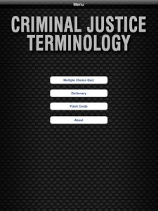 criminal justice terminology for ipad